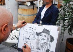 Karikaturen & Portretten Sneltekenaar Gady TopActs 1